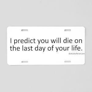 Prediction (Black Text) Aluminum License Plate