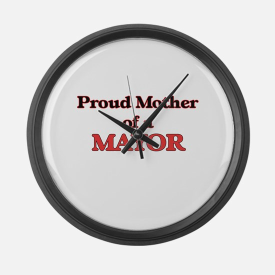 Proud Mother of a Mayor Large Wall Clock