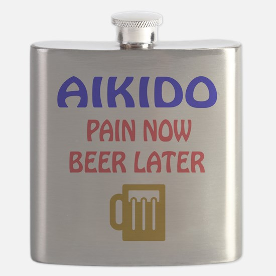 Aikido Pain Now Beer Later Flask