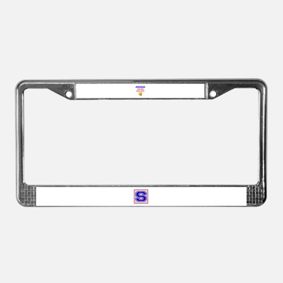 Aikido Pain Now Beer Later License Plate Frame