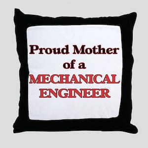 Proud Mother of a Mechanical Engineer Throw Pillow