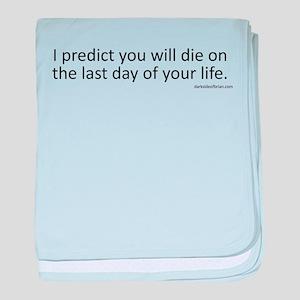 Prediction (Black Text) baby blanket