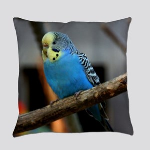 Budgie Flower Everyday Pillow