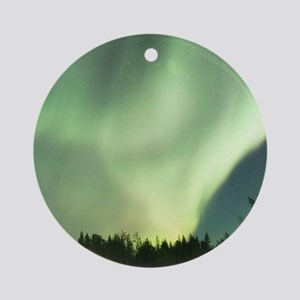 Northern Lights Round Ornament