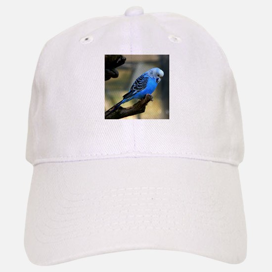 Blue Budgie Baseball Baseball Cap