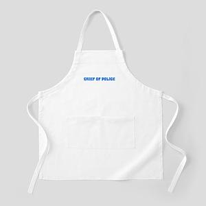 Chief Of Police Blue Bold Design Light Apron