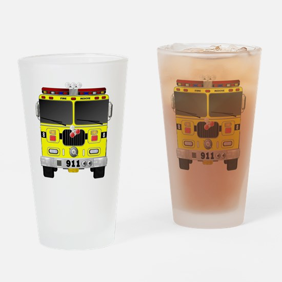 Funny Firefighter kids Drinking Glass