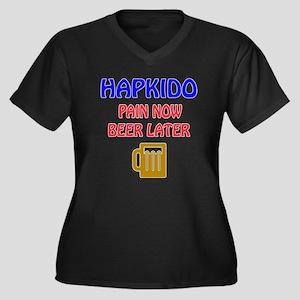 Hapkido Pain Women's Plus Size V-Neck Dark T-Shirt