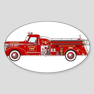 Fire Truck - Vintage fire truck. Sticker