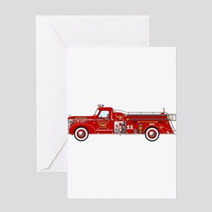 Fire Truck - Vintage fire truck. Greeting Cards