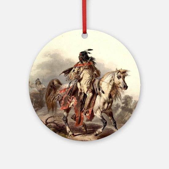 Unique Wild horses Round Ornament