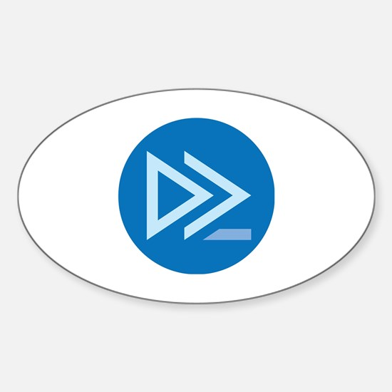 Cute Powershell Sticker (Oval)