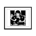 Edgar Allen Poe Framed Panel Print