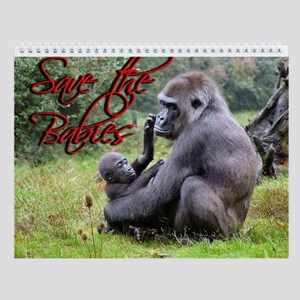 Wildlife Babies Wall Calendar