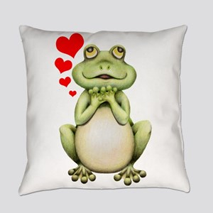 Frog Love Drawing Everyday Pillow