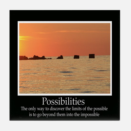Possibilities Sunset Tile Coaster