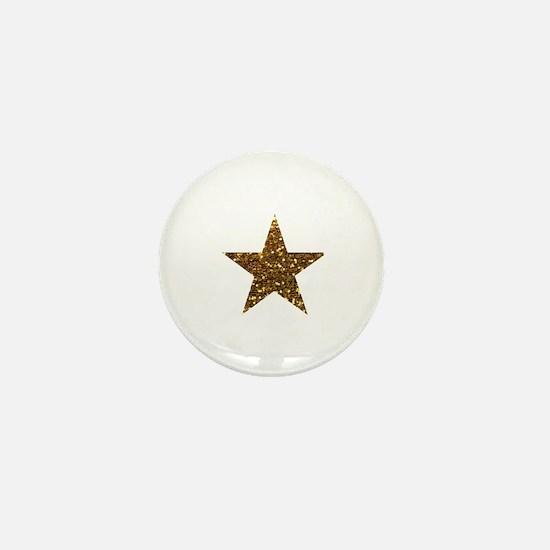 Cute Gold star Mini Button