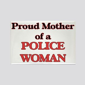 Proud Mother of a Police Woman Magnets