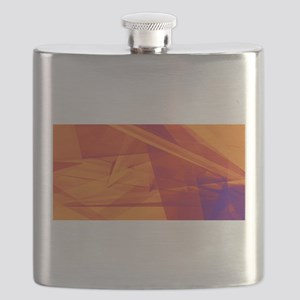 Orange Purple Abst Flask