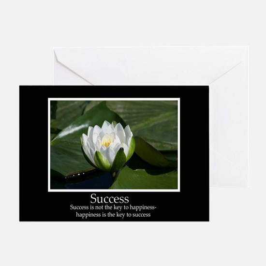 Success Water Lily Greeting Card