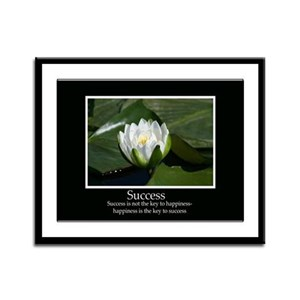 Success Water Lily Framed Panel Print