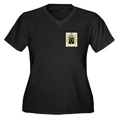 Pruitt Women's Plus Size V-Neck Dark T-Shirt