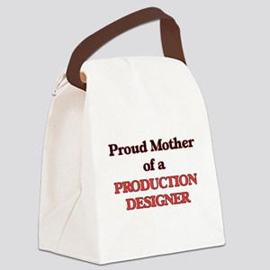 Proud Mother of a Production Desi Canvas Lunch Bag