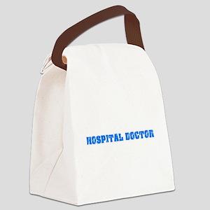 Hospital Doctor Blue Bold Design Canvas Lunch Bag