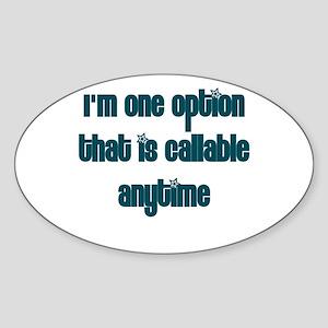 Call Option Oval Sticker