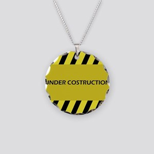 under construction Necklace Circle Charm
