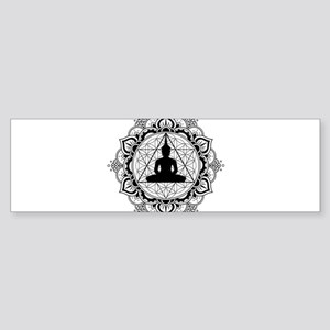 Buddha Meditating Sacred Geometry Mandala Bumper S
