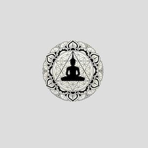 Buddha Meditating Sacred Geometry Mandala Mini But