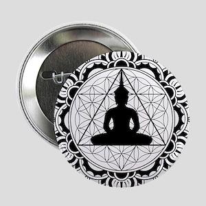 "Buddha Meditating Sacred Geometry Mandala 2.25"" Bu"
