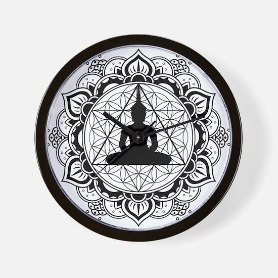 Buddha Meditating Sacred Geometry Mandala Wall Clo