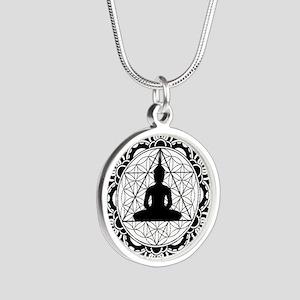 Buddha Meditating Sacred Geometry Mandala Necklace