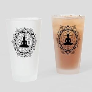 Buddha Meditating Sacred Geometry Mandala Drinking