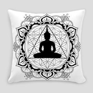 Buddha Meditating Sacred Geometry Mandala Everyday