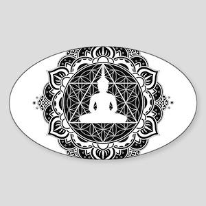 Buddha Meditating Sacred Geometry Mandala Sticker