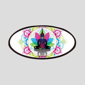 Buddha Meditating Sacred Geometry Mandala ohm Patc