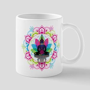 Buddha Meditating Sacred Geometry Mandala ohm Mugs