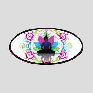 Buddha Meditating Sacred Geometry Mandala Patch