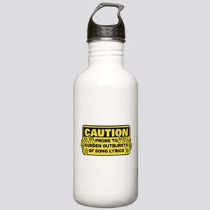 Caution Prone To Sudde Stainless Water Bottle 1.0L