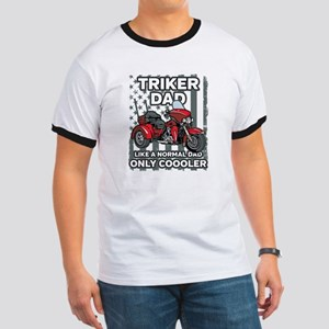 Motorcycle Triker Dad Ringer T