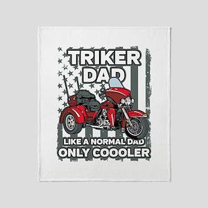 Motorcycle Triker Dad Throw Blanket