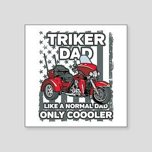 "Motorcycle Triker Dad Square Sticker 3"" x 3"""