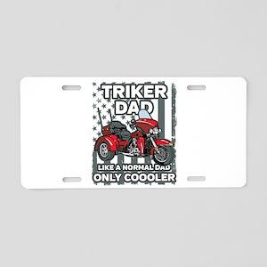 Motorcycle Triker Dad Aluminum License Plate