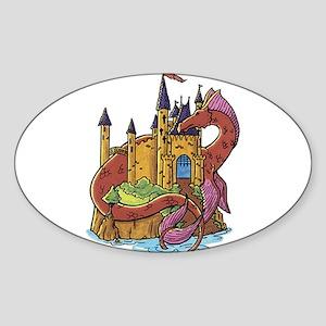 Dragon and Castle Sticker