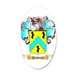 Provenzal Oval Car Magnet