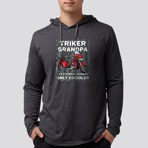 Motorcycle Triker Grandpa Mens Hooded Shirt