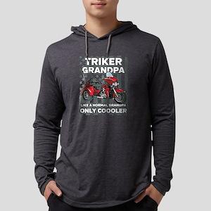Motorcycle Triker Grandpa Mens Hooded Shirt